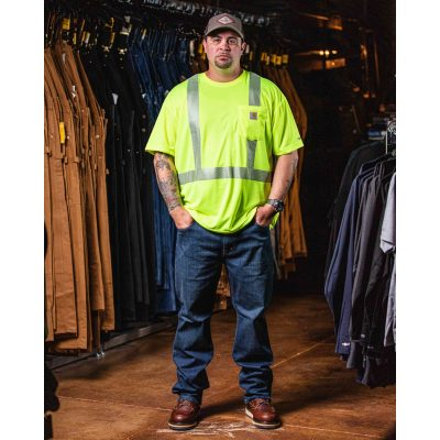 Class 3 High Visibility Force Short Sleeve T-Shirt (Brite Lime)