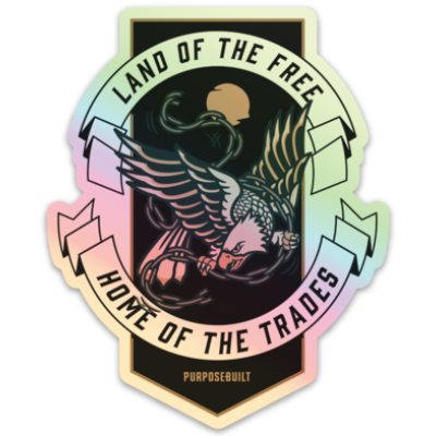 Rise Above Sticker – Holographic